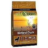 Wildborn cibo secco per cani adulti, Wetland Duck, con carne di anatra, senza cereali, per tutte le razze di cani