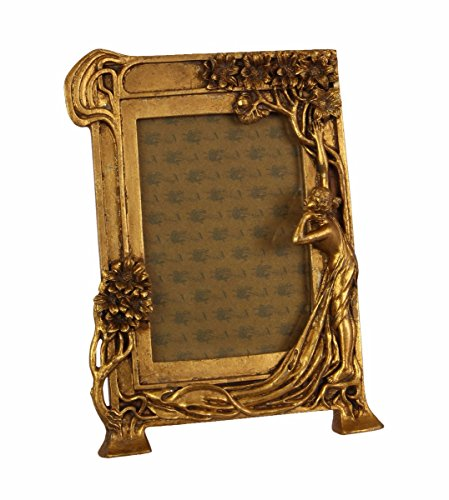 Casa Padrino Jugendstil Bilderrahmen Gold Antik Stil 18.9 x 25.4 cm - Bilder Rahmen Barock Foto...