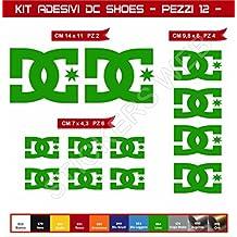 Pegatinas adhesivos DC SHOES para motos, motocicletas. Cod.0574 (Verde Lime cod. 064)