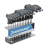 Silverline Tools 328015 Trx T-Handle Key Set  Size T9 - T50 Set of 10 Piece