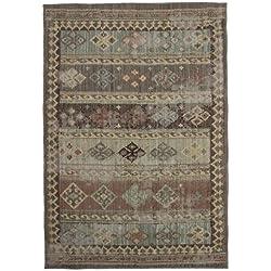 Monbeautapis 122179Marrakech Vintage Líneas alfombra polipropileno Heat Set marrón 110x 60cm