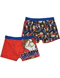 66fd909298bd Mens Pack of 2 Disney 7 Dwarfs Mr Grumpy Trunk Fit Boxer Short Briefs Sizes  S M L