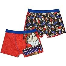 Hombre Paquete de 2 Disney 7 enanitos Mr. Grumpy Bañador FIT Calzoncillos Bóxer calzoncillos tallas