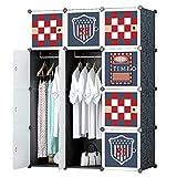 GTC Multi Use Clothes Organizer, Bookcase, Storage Cabinet, Wardrobe Closet 110.5 x 47 x 146 CM Cloth Rack ( IT N - STW031 )