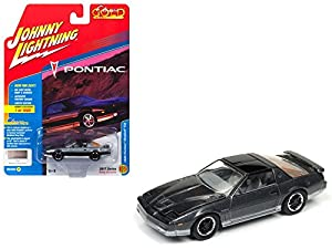 Johnny Lightning JLCG011B - Pontiac (Escala 1:64, 1985), Color Gris Oscuro y Negro