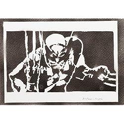 Lobezno X-Men Hecho A Mano - Handmade Street Art Poster