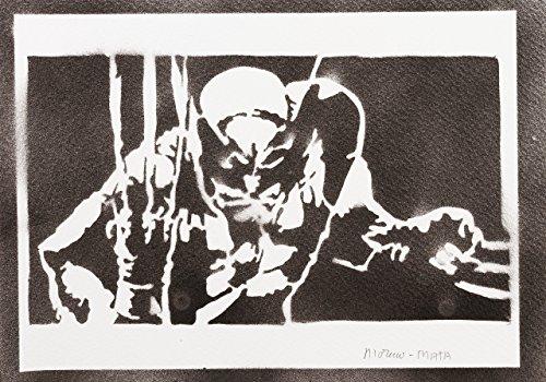Wolverine X-Men Handmade Street Art - Artwork - Poster (X Men Origins Wolverine Kostüm)