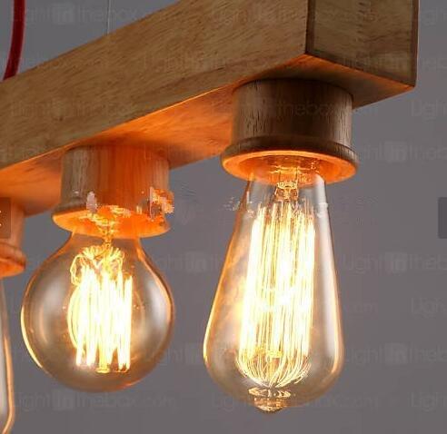 WYFC MAX 60W Insel-Licht . Zeitgenössisch / Rustikal Holz Feature for Candle-Art Holz/BambusWohnzimmer / Schlafzimmer / Esszimmer / . 220-240v - Kronleuchter 60w Art