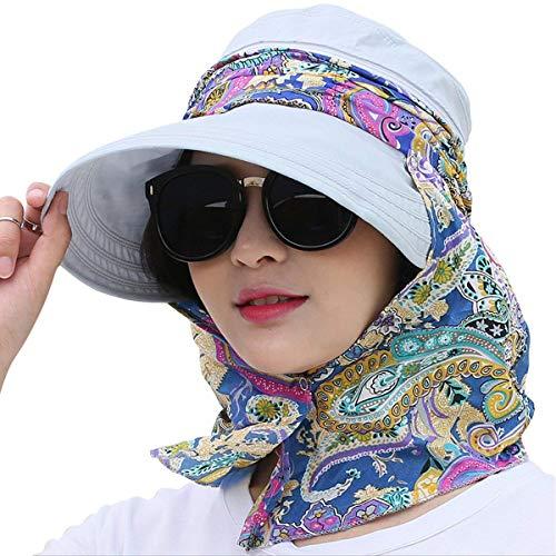 Kuyou Sommer Strand Hat Damen Outdoor Sport Hut Anti-UV Sonnenhut (Hellblau) (Hat Womens Gartenarbeit)
