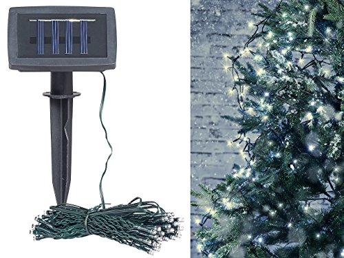 Lunartec Solar Lichter: Solar-LED-Lichterkette, 100 LEDs, Dämmerungssensor, warmw, 10 m, IP44 (Solar Lichterkette Außen)