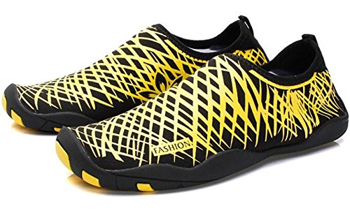 DADAWEN chaussures pour sport aquatique /plage /running Mixte Adulte jaune(B)
