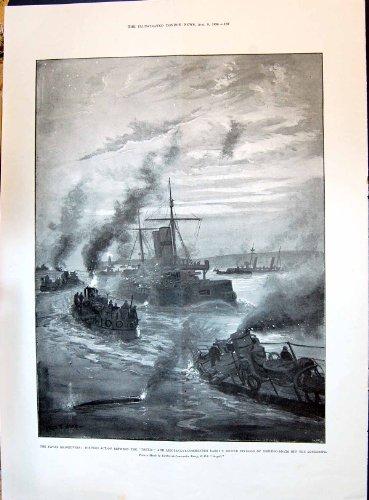 1896 hindische Moslems Patan Kathiawar Kriegs-Torpedo-Vorgang Thetis-Seemöwen-Barrys