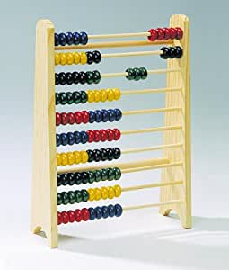 Boulier en bois 10 rangées de 10 boules - 100 boules
