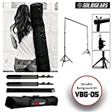 #6: SolidGears VBG-005 Studio Backdrop Stand, Professional Photography Video Background kit, for Chroma Green Screen Or Flash Light, LED, Softbox, Studio Light