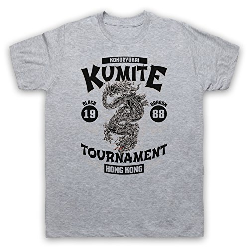Bloodsport Kumite 1988 Black Dragon Tournament Herren T-Shirt Grau