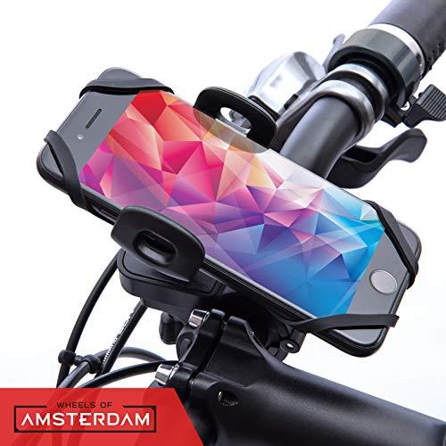 Wheels of Amsterdam, Handyhalterung Fahrrad, Fahrrad Handy-Halterung wasserdicht, Motorrad Handy-Halterung, Handy-Halterung universal für Fahrrad und Mountainbike/iPhone/Samsung/Huawei/Markenqualität