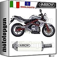 ARROW - Tubo de Escape homologado Maxi Race-Tech de Aluminio Blanco Kawasaki ER-
