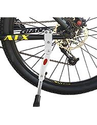 Béquille de vélos,FayTun en Alliage d'aluminium Béquille Support pour VTT Route Vélo de montagne Vélo(blanc)