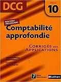 Comptabilité approfondie DCG10 : Corrigés des applications