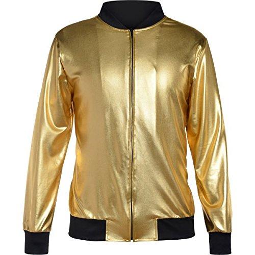 90er-Jahre hip Hop Goldene Jacke - 40-42