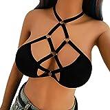 OYSOHE Neueste Mode Damen Lässig Plus Size Lace Rosendruck Chiffon O-Ausschnitt Rüschen Minikleid (L, TT-Schwarz)