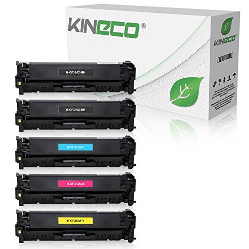 5 Series Toner (Kineco 5 Toner kompatibel zu HP CF380X CF381A CF382A CF383A Laserjet Pro MFP M470 Series M476 DN DW NW - Schwarz je 4.400 Seiten, Color je 2.700 Seiten)
