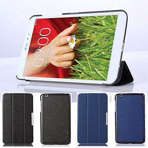 Estuche para LG G Pad 8.3 V500, [Alarma / suspensión del automóvil] HZSSEC Estuche protector Funda de cuero protectora inteligente ultra delgada y liviana para LG G Pad 8,3 Pulgadas V500 Tableta, Negro