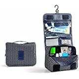 Elevin(TM)Pockettrip Hanging Toiletry Kit Clear Travel BAG Cosmetic Carry Case Toiletry (Deep Blue)