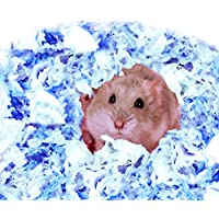 DreamAuro Ultra Soft Natural Paper Cotton Bedding for Hamster, Bird's Nest, Mice, Gerbil, Rabbit and Guinea Pig (Pack of…