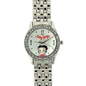 Montre Betty Boop pour Femme Edition Limitée avec Bracelet en Métal Argenté