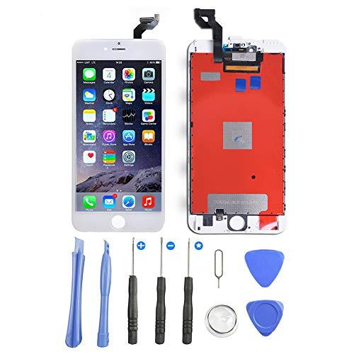 Supnew LCD Display für iPhone 6 Plus Weiß, LCD Touchscreen Digitizer Front Komplettes Glas Display Retina Reparatur Ersatz Bildschirm für iPhone 6 Plus Weiß (5.5) + Werkzeugset (6 Ersatz Front-bildschirm Iphone)