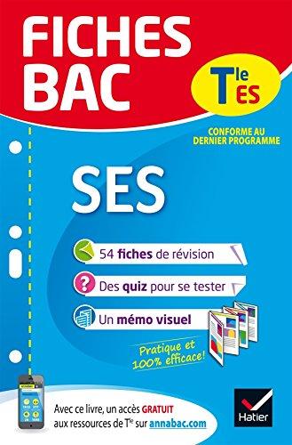 Fiches bac SES Tle ES: fiches de révision Terminale ES par Jean-Marc Gauducheau