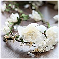 Garland copricapo copricapo da sposa corona Rattan copricapo da sposa fiore capo filato di seta (Seta Capo)