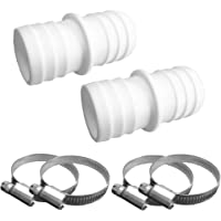 well2wellness ® 2x Hose Connector 38mm with 4Hose Clamps