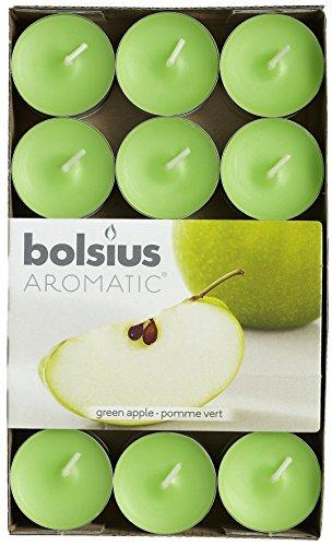 Bolsius profumati, Cera, Verde, Singolo lumino: h 1.5cm Ø3.8cm, 30 unità