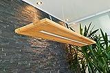Deckenlampe Hängelampe Pendelleuchte Holz Eiche Hängeleuchte Leuchte Esstisch Eiche Massiv Geölt 120 cm LED A+ (ohne Fernbedienung)