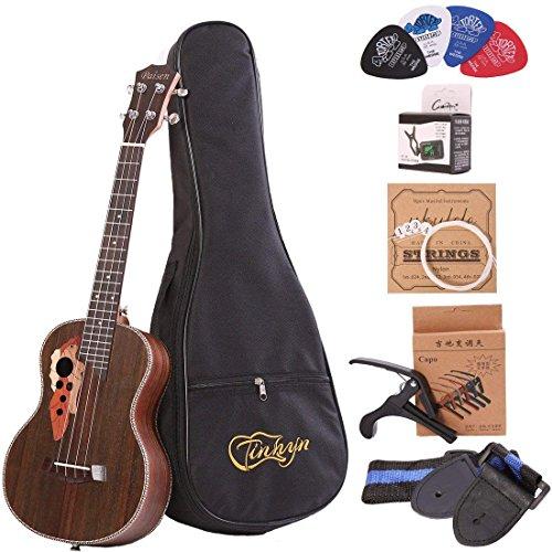 Paisen Ukulele tenore ukulele professionale in palissandro da 26 pollici invia un set completo di accessori