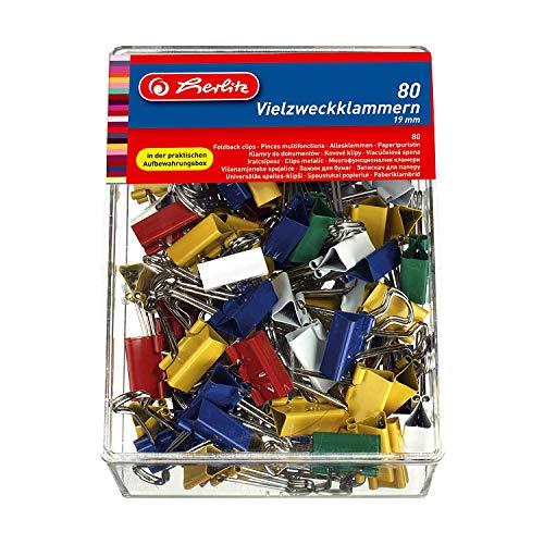 EXTSUD 120 St/ück Foldback Klammern Papier Metall Binder Clips B/üroklammern Vielzweckklammern f/ür Notizen Briefpapier Clip B/ürobedarf,6 sortierte Gr/ö/ßen,MEHRWEG