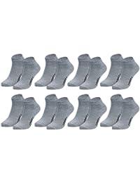 Modische Sneaker-Socken für Damen, Herren + Teenager, 8 oder 12 Paar in schwarz, weiß, grau oder Mix. Baumwolle m. Elasthan von Men's + Ladies' Fashion Lounge