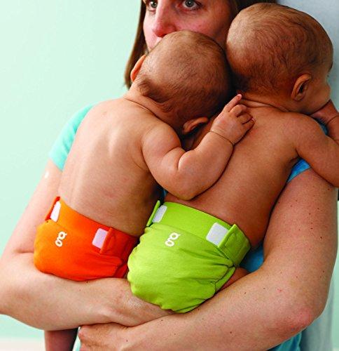 gNappies Little gPants Stoffwindel orange & grün, Größe M (5 - 13 kg), 6er Pack (1 x 6 Stück) -