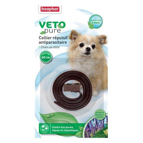 Artikelbild: Collier marron insectifuge anti Puces et tiques chien, chiot/VETONATURE