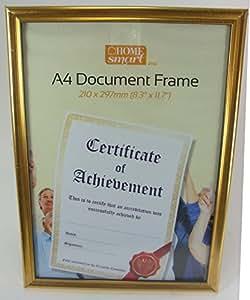 Cadre Argenté Format A4 Pour Diplôme Certificat Sans Verre