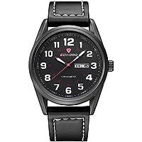 WENY Reloj para Hombres, Militar, Deportivo, de Cuarzo, Calendario/Fecha/día Impermeable/Resistente al Agua (Color : Black)