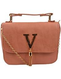 Sling bags for girls (Peach , 518)