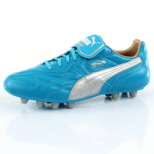King Top City di Marseille FG - Crampons de Foot - Bleu/Argent blue