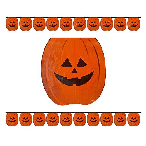nge Pumpkins Halloween Party-Wimpelkette Dekoration Banner Zubehör ca. 24Fuß (Theater-schwarze Witwe Kostüm)