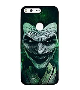 For Google Pixel XL Cartoon, Grey, Cartoon and Animation, Devil, Printed Designer Back Case Cover By CHAPLOOS