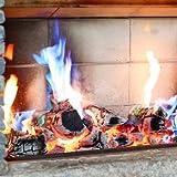 Piñas de abeto para chimeneas, crean llamas que cambian de color con efecto de aurora boreal
