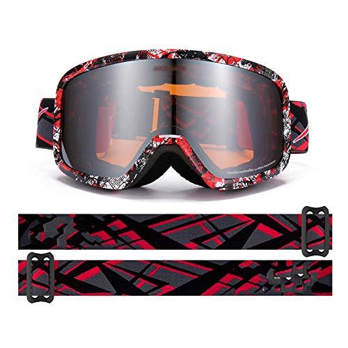 KTCLE Schwimmbrillen FüR Erwachsene Brillen Brille Skibrille Bergspiegel, GroßE Zylindrische Zweischichtige Einzel- Und Doppelplatten-Antibeschlag-MäNner Dame