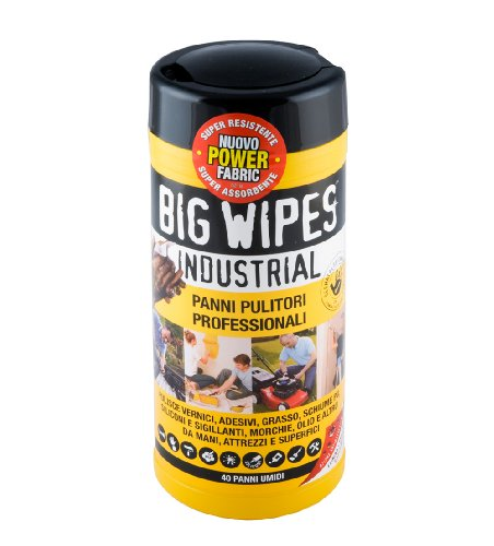 Big Wipes Industrial 40 Panni Pulitori Professionali, Tubo da 40 pz.